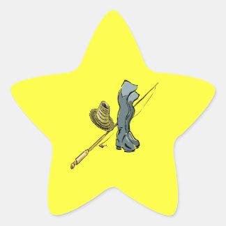 Fishing Gear Star Sticker