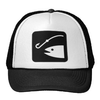fishing getting a bite trucker hat