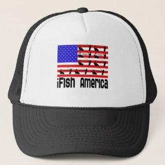 Fishing Gift iFish America Trucker Hat