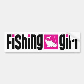 Fishing Girl Bumper Sticker