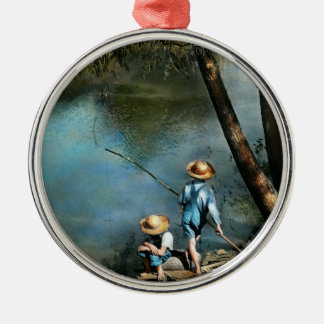 Fishing - Gone Fishin' - 1940 Metal Ornament