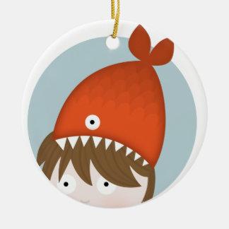 Fishing gone wrong christmas tree ornament