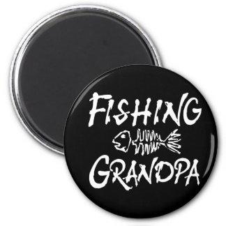 Fishing Granpa 2 Inch Round Magnet