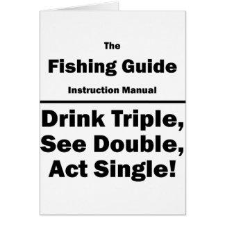 fishing guide card