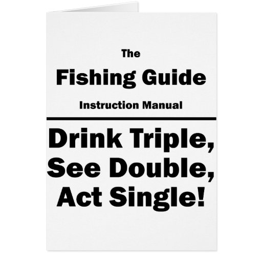 fishing guide cards