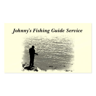 Fishing Guide Service Double-Sided Standard Business Cards (Pack Of 100)