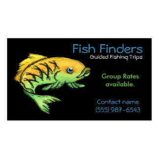 Fishing Guide, Trips or  Tours Service Business Card Templates