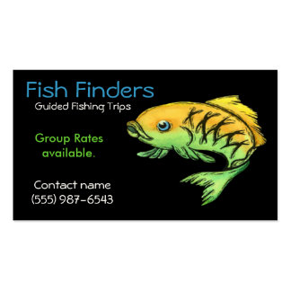 Fishing Guide, Trips or  Tours Service Double-Sided Standard Business Cards (Pack Of 100)