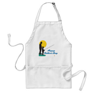 Fishing Happy Father's Day Adult Apron