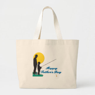 Fishing Happy Father's Day Tote Bag