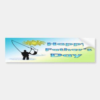 Fishing - Happy Father's Day Bumper Sticker Car Bumper Sticker