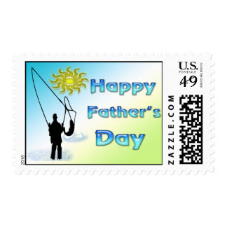 Fishing - Happy Father's Day Postage