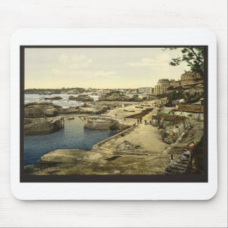 Fishing harbor, Biarritz, Pyrenees, France Mouse Pad