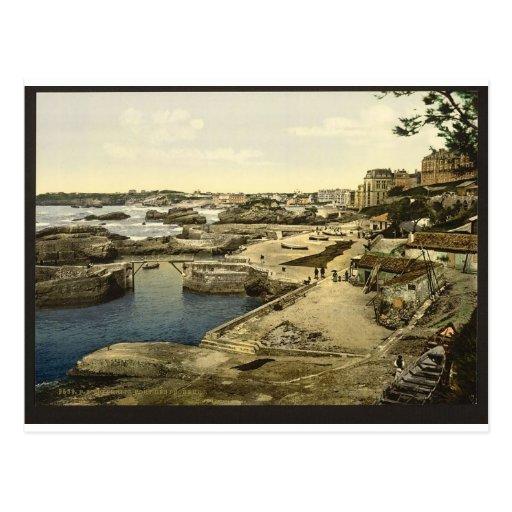 Fishing harbor, Biarritz, Pyrenees, France Postcard
