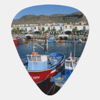 Fishing Harbor, Puerto de Mogan, Gran Canaria, Guitar Pick