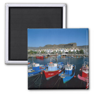 Fishing Harbor, Puerto de Mogan, Gran Canaria, Fridge Magnet