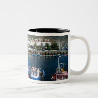 Fishing Harbor, Puerto de Mogan, Gran Canaria, Two-Tone Coffee Mug