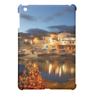 Fishing harbour iPad mini cover