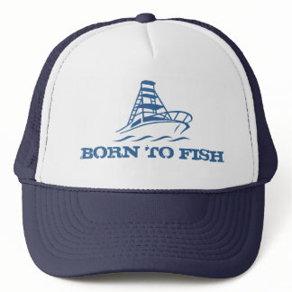 Fishing hat | Born to fish with boat design