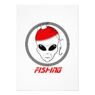 Fishing head alien invites