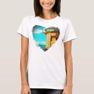 Fishing hook'd beach fish tackle box aqua T-Shirt