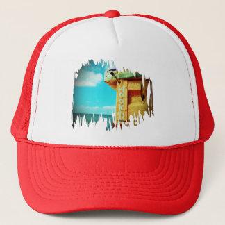 Fishing hook'd beach fish tackle box aqua trucker hat