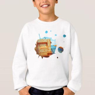 Fishing hook line seeya beach fish blue jetty pier sweatshirt