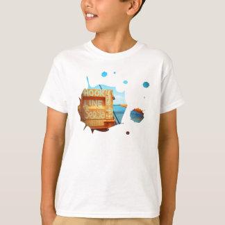 Fishing hook line seeya beach fish blue jetty pier T-Shirt