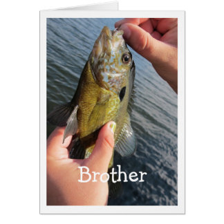 Fishing Humor for Brother Birthday Customize Card