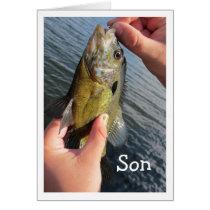 Fishing Humor Son Birthday to Customize Card
