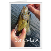 Fishing Humor Son-in-Law to Customize Card