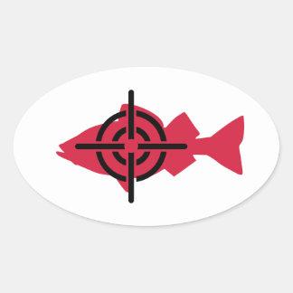 Fishing hunter crosshairs sticker