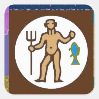 FISHING HUNTING Fish Hunter Wild Hobby Cartoon GIF Square Stickers