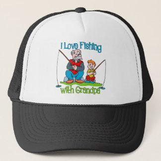 Fishing - I Love Fishing with Grandpa Trucker Hat