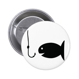 fishing icon pinback buttons