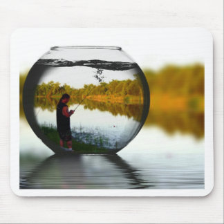 Fishing in a Fishbowl Mouse Pad