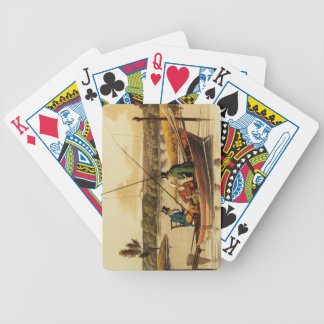 Fishing in a Punt, aquatinted by I. Clark, pub. by Bicycle Playing Cards