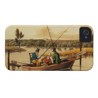 Fishing in a Punt, aquatinted by I. Clark, pub. by iPhone 4 Cover