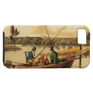 Fishing in a Punt, aquatinted by I. Clark, pub. by iPhone SE/5/5s Case