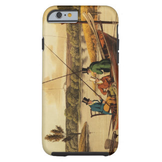 Fishing in a Punt, aquatinted by I. Clark, pub. by Tough iPhone 6 Case