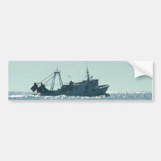 Fishing In A Sparkling Sea Car Bumper Sticker