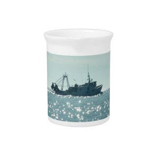 Fishing In A Sparkling Sea Beverage Pitchers