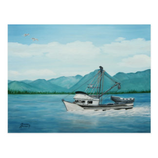 Fishing in Alaska Postcard