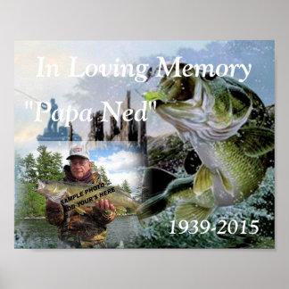 Fishing In Loving Memory Memorial Photo Poster