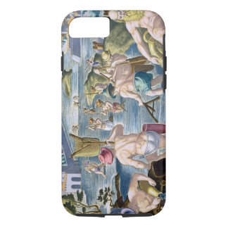 Fishing in Shallow Waters Using Nets, plate 96 fro iPhone 7 Case