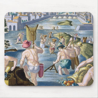 Fishing in Shallow Waters Using Nets, plate 96 fro Mouse Pad