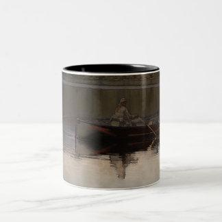Fishing in Silence Two-Tone Coffee Mug