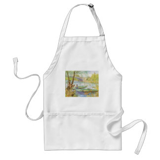 Fishing in Spring by Vincent van Gogh Adult Apron