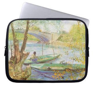 Fishing in Spring by Vincent van Gogh Laptop Sleeve