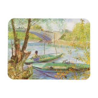 Fishing in Spring by Vincent van Gogh Magnet